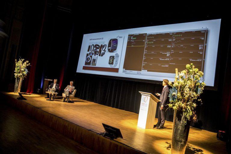 Podium Stadsgehoorzaal Leiden tijden congres